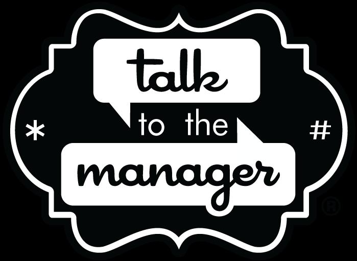 TalkToTheManager Logo, Black