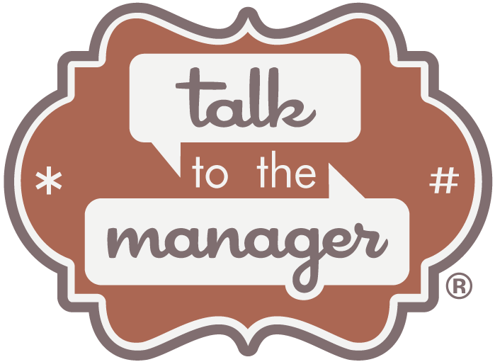 TalkToTheManager Logo, Full Color