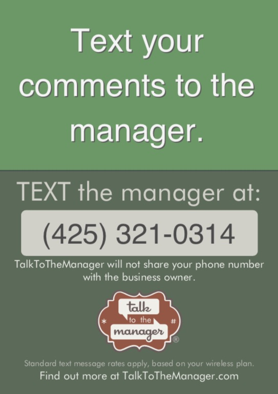 Sign Options - TalkToTheManager